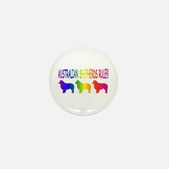 Australian Shepherd Dogs Mini Button