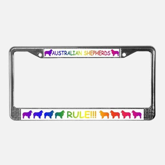 Australian Shepherd Dogs License Plate Frame