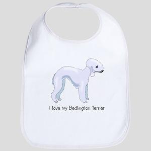 I Love my Bedlington Terrier Bib