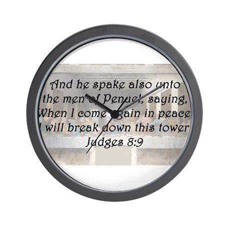 Judges 8:9 Wall Clock