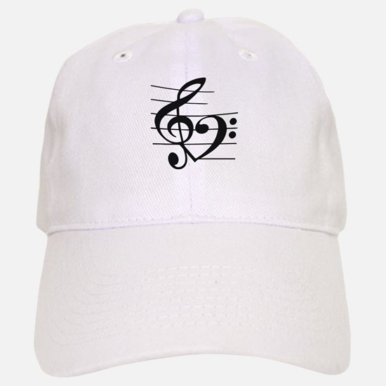Music heart Baseball Baseball Cap