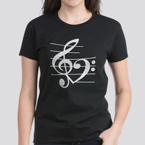 Music heart Women's Dark T-Shirt