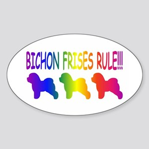 Bichon Frises Sticker (Oval)
