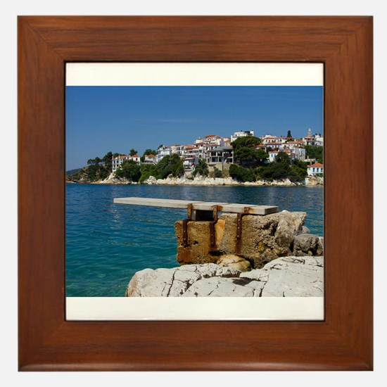 Skiathos in Greece Framed Tile