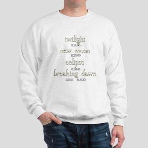 Twilight Saga Movie Dates Sweatshirt