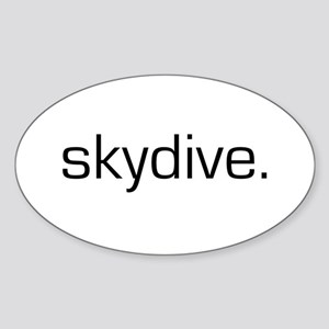 Skydive Oval Sticker