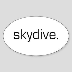 Skydive Oval Sticker