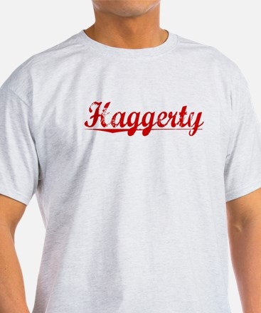 Haggerty, Vintage Red T-Shirt