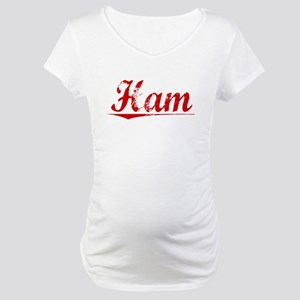 Ham, Vintage Red Maternity T-Shirt