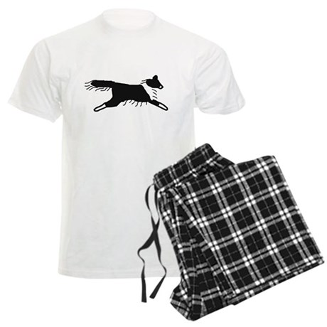 Bi-Black Sheltie Men's Light Pajamas