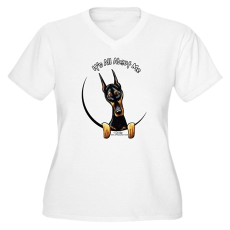 Doberman IAAM Women's Plus Size V-Neck T-Shirt