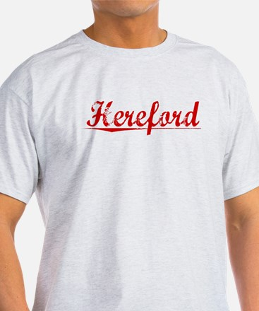 Hereford, Vintage Red T-Shirt