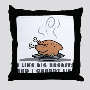 BIG BREASTS Throw Pillow