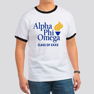 Alpha Phi Omega Letters Personalized Ringer T