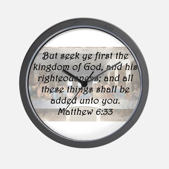 Matthew 6:33 Wall Clock