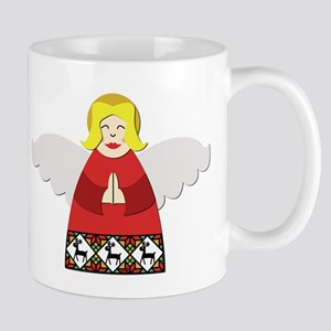 Ukrainian Angel Red Mug