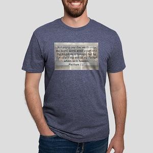 Matthew 7:21 Mens Tri-blend T-Shirt