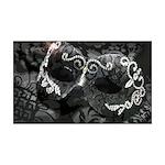 Dazzling Midnight Masquerade 35x21 Wall Decal