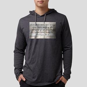 Matthew 28:18 Mens Hooded Shirt