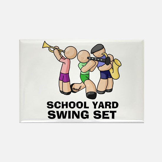 Swing Set Rectangle Magnet