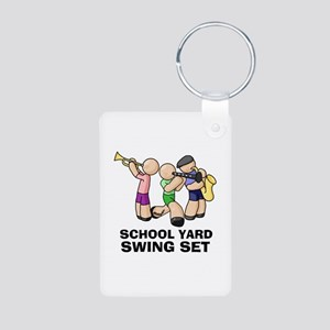 Swing Set Aluminum Photo Keychain