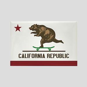 California Skateboarding Bear Flag Rectangle Magne