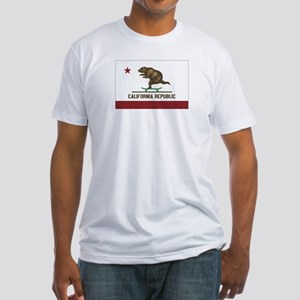 California Skateboarding Bear Flag Fitted T-Shirt
