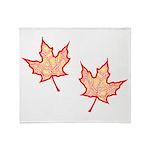 Fire Leaf Throw Blanket