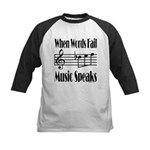 Music Speaks Kids Baseball Jersey
