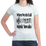 Music Speaks Jr. Ringer T-Shirt