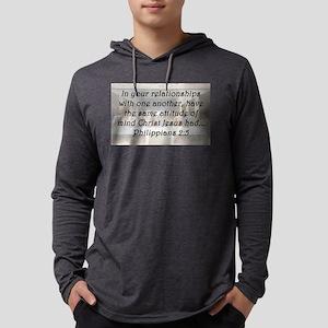 Philippians 2:5 Mens Hooded Shirt