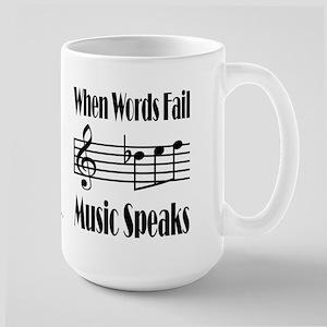 Music Speaks Large Mug