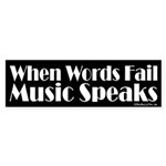 Music Speaks Sticker (Bumper 10 pk)