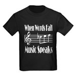 Music Speaks Kids Dark T-Shirt