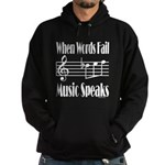 Music Speaks Hoodie (dark)