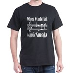 Music Speaks Dark T-Shirt