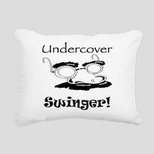 undercover-swinger Rectangular Canvas Pillow
