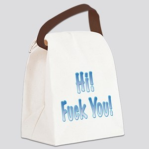 hi-fuckyou Canvas Lunch Bag