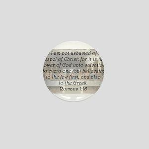 Romans 1:16 Mini Button