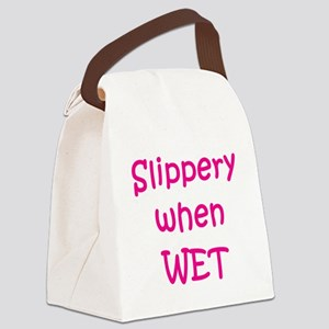 slippery-when-wet,p Canvas Lunch Bag