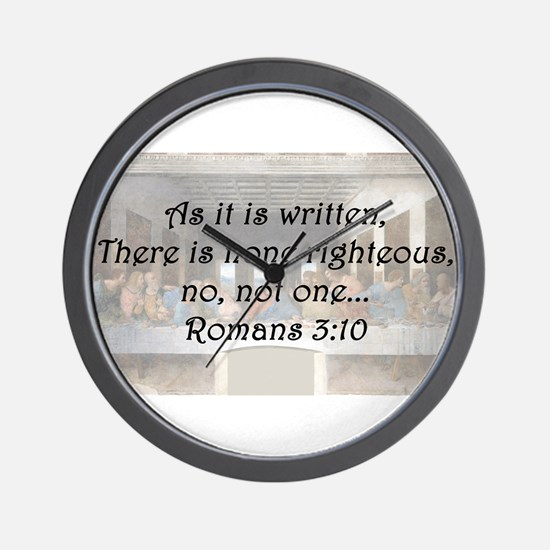 Romans 3:10 Wall Clock