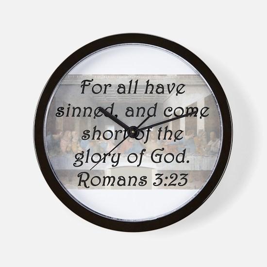 Romans 3:23 Wall Clock