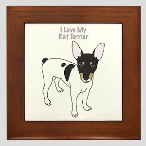 I Love My Rat Terrier Framed Tile
