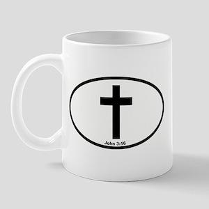 Cross Oval Mug