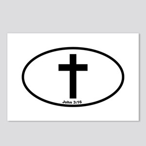 Cross Oval Postcards (Package of 8)