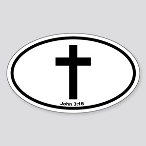 Cross Oval Oval Sticker