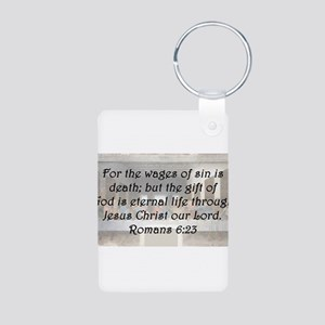 Romans 6:23 Aluminum Photo Keychain