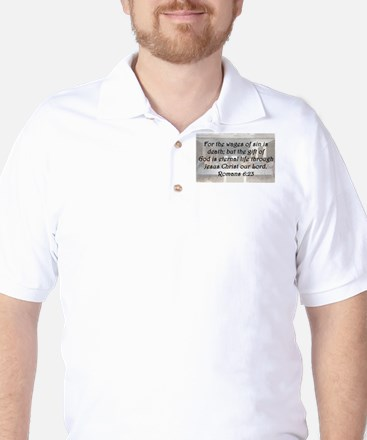 Romans 6:23 Golf Shirt