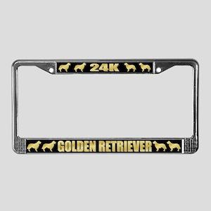 24K Golden Retriever License Plate Frame
