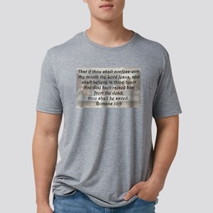Romans 10:9 Mens Tri-blend T-Shirt
